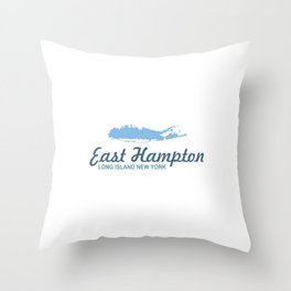 East Hampton - Long Island. Throw Pillow
