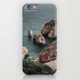 Ponta da Piedade rocky coastline in the Algarve, Portugal iPhone Case
