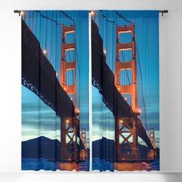 Awe Inspiring Golden Gate Bridge San Francisco Bay California At Romantic Evening Red Ultra HD Blackout Curtain