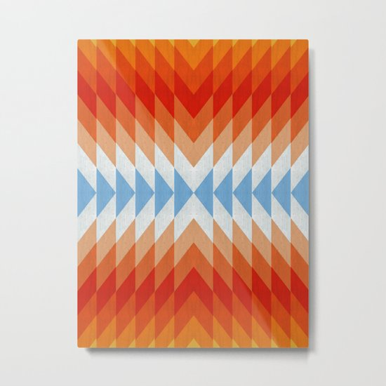 Minimalist orange and red Metal Print