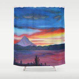 Our Side of The Mountain, Pacific Northwest Mountain Series Shower Curtain