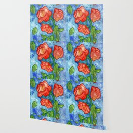 Peachy Colored Roses Wallpaper