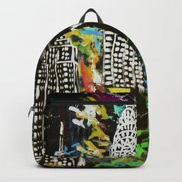 New York City Buildings at Night Backpack