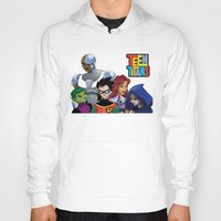 teen titans Hoodies featuring Teen Titans by Paige Thulin