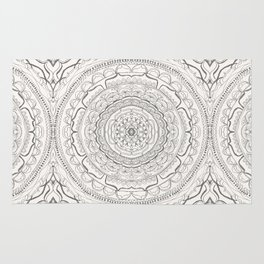 Black & White Lace Rug