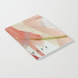 Blush: minimal | pink | white | black | green | mixed media | abstract | ink | watercolor | wall art Notebook
