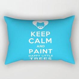 Bob Ross Keep Calm and Paint Happy Little Trees Rectangular Pillow
