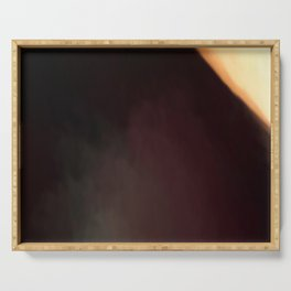 Abstract Burgundy Shades with Beige Corner.   Like painted on canvas. Serving Tray