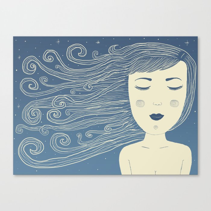 The Moon In Human Form Canvas Print