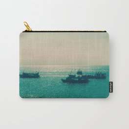 Endless Horizon. Boats Sailing into the Sea. Vintage Photography. Carry-All Pouch