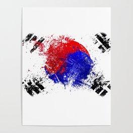 Flag brush Poster