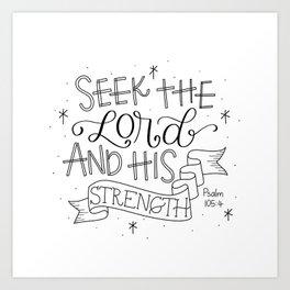 Seek the Lord Art Print