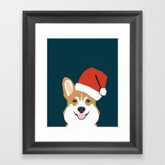 Corgi Christmas  santa claus costume for cute welsh corgi pet dog lover gift for the corgi person Framed Art Print