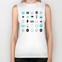 8 bit Biker Tanks featuring 8-Bit Bling by Spires