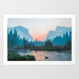 Pastel Yosemite #society6 #buyart Art Print