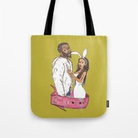 minaj Tote Bags featuring pills and potions. by Late Bloomer