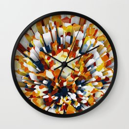 Colorful 3D Extrusion Wall Clock