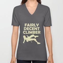 Mountaineer fairly decent climber Unisex V-Neck