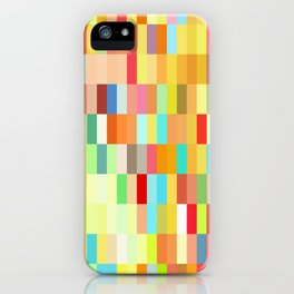 colorful rectangle grid iPhone Case