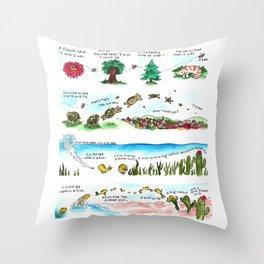 Tree Hugger Kimya Dawson Throw Pillow