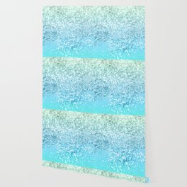 Seafoam Aqua Ocean MERMAID Girls Glitter #1 #shiny #decor #art #society6 Wallpaper