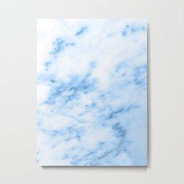Marbled Blue Metal Print