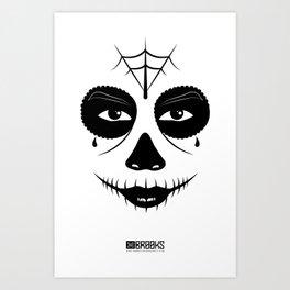 Muerte Del Santo Art Print