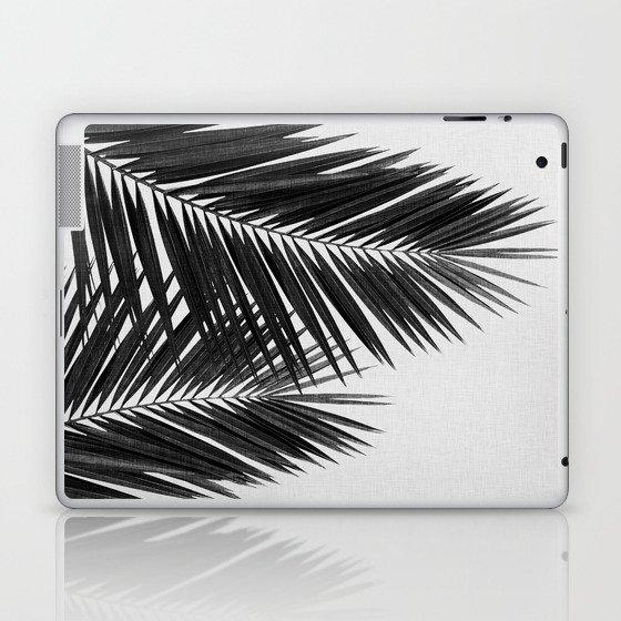 Palm Leaf Black & White II Laptop & iPad Skin