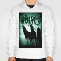 wolves Hoodies featuring WolveS by shannon's art space