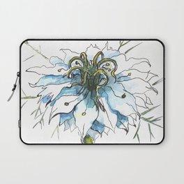 Nigella watercolor beautiful flower, nature Laptop Sleeve