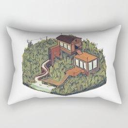 Squared Landscape III Rectangular Pillow