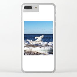 Abstract Ice Sculpture Clear iPhone Case