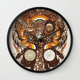 Dreams of a Feather Wall Clock
