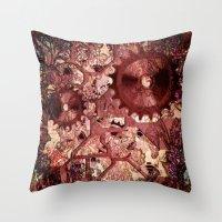 steampunk Throw Pillows featuring Steampunk by MehrFarbeimLeben