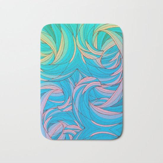Sun Light Waves Bath Mat