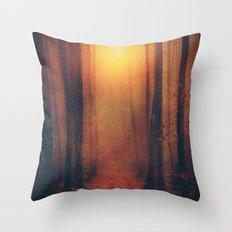 Seeking the light. Throw Pillow