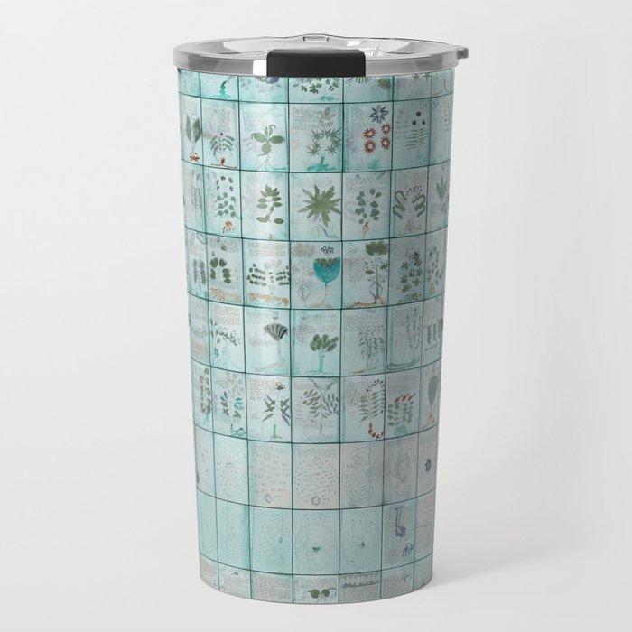 The Complete Voynich Manuscript - Blue Tint Travel Mug