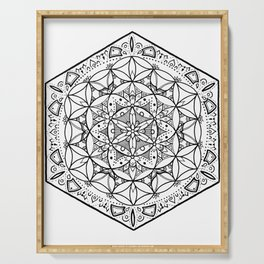 FLOWER OF LIFE Serving Tray