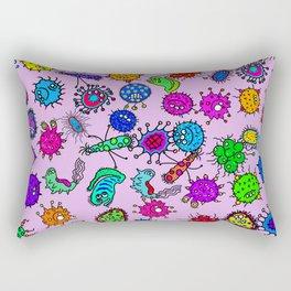 Bacteria Background Rectangular Pillow