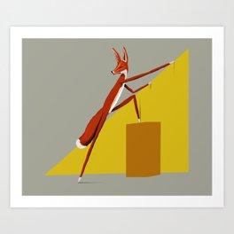 Fox is leaving Art Print