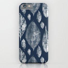 Leaf Litter in Dark Blue iPhone Case