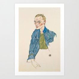 "Egon Schiele ""One-Year Volunteer Lance-Corporal"" Art Print"