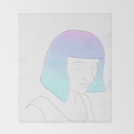 Portrait of a Girl Throw Blanket