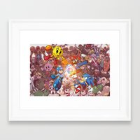 smash bros Framed Art Prints featuring SMASH! by Robaato