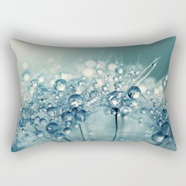 Creamy Blue Sparkles Rectangular Pillow