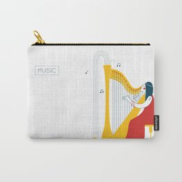 Woman harpist Carry-All Pouch