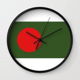 bangladesh flag Wall Clock