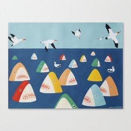 Shark Park Canvas Print