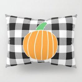 Buffalo Plaid Pumpkin (black/white/orange) Pillow Sham