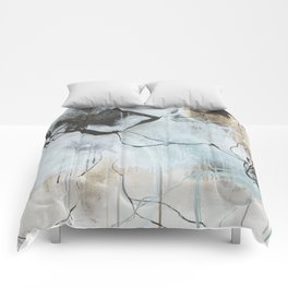 Static and Storm - Square Abstract Expressionism Comforters